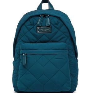 Marc Jacobs Quilted Nylon Backpack in Deep Sea